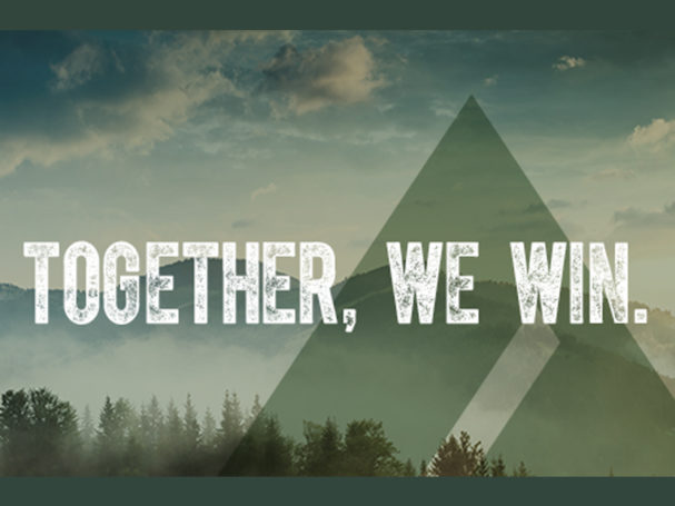 Ad logo together we win