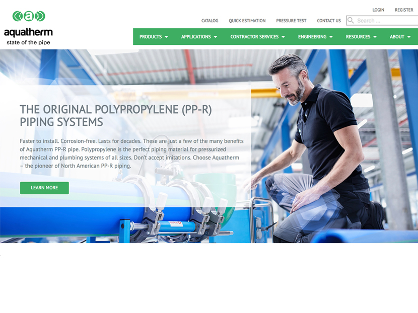 Aquatherm Unveils Revamped Website