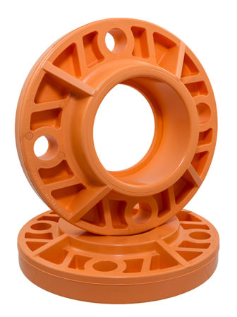 BlazeMaster CPVC 3-inch socket and blind flanges