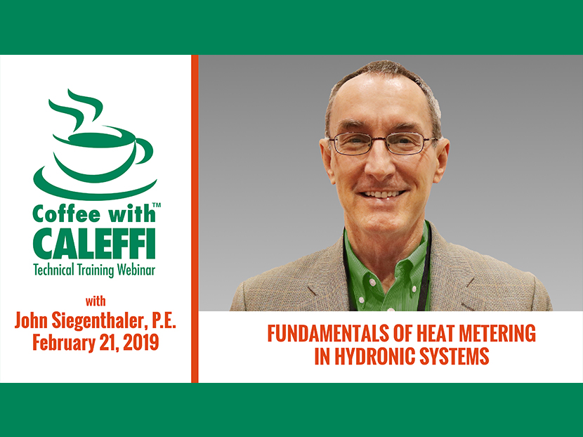 Caleffi Kicks off 2019 Webinar Series