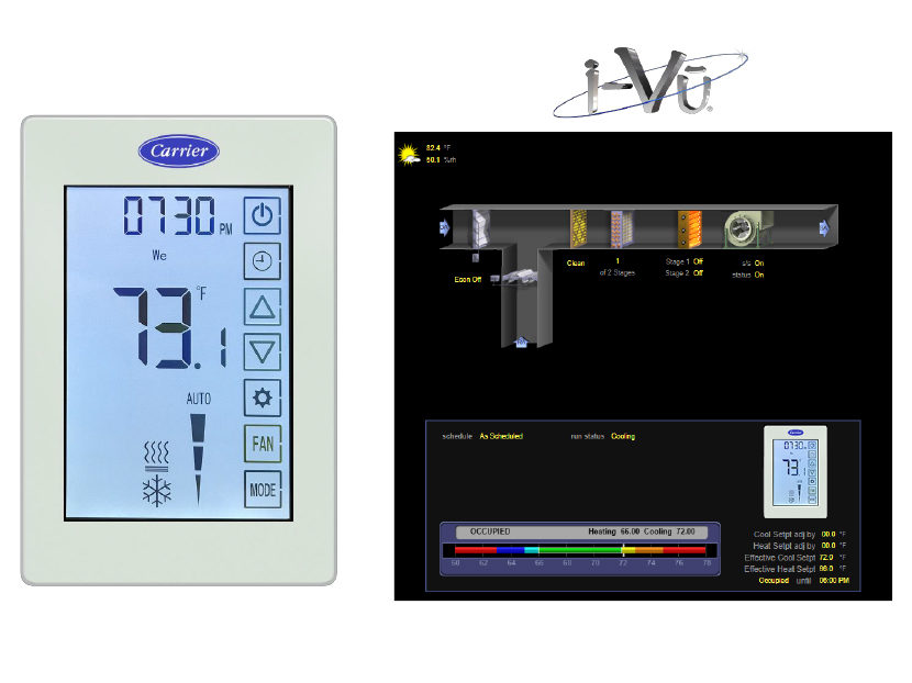 Carrier ComfortVu BACnet Thermostats