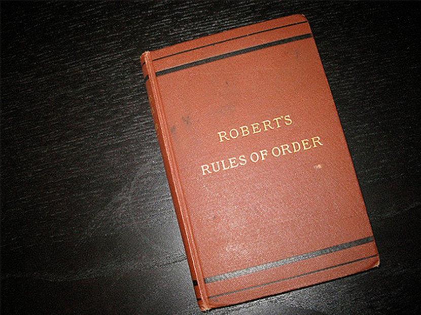 Robert's Rule of Order