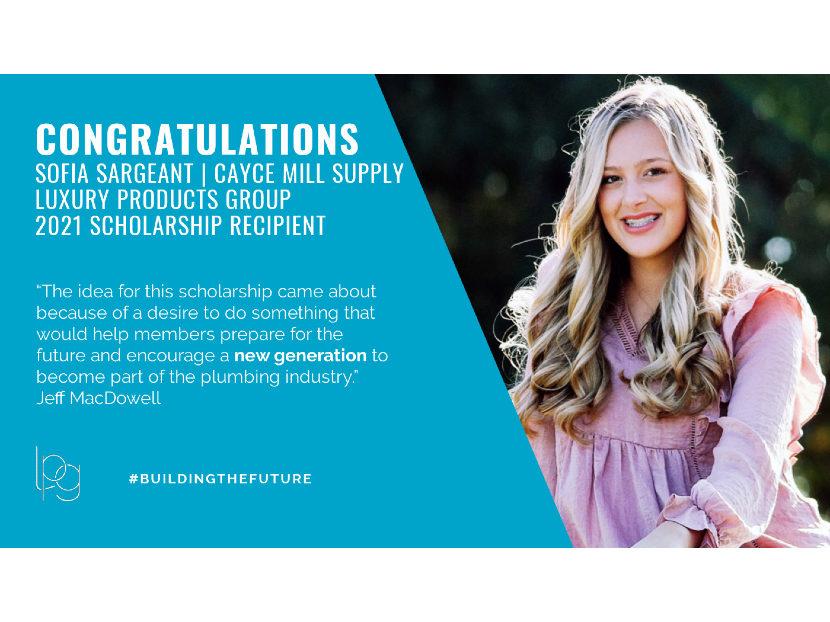 LPG Awards Annual Scholarship to Sofia Sargeant of Hopkinsville, Kentucky 2