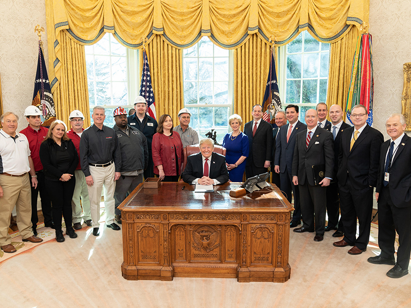 "M&H Valve and Tyler Union Employees Attend Signing of ""Buy America"" Executive Order"