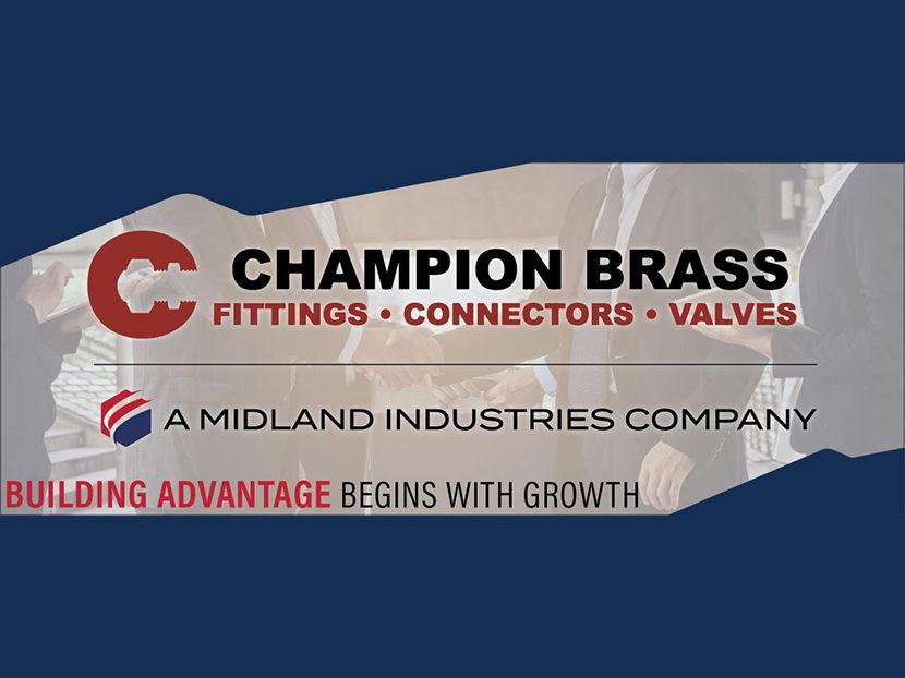 Midland Industries Welcomes Champion Brass to the Platform
