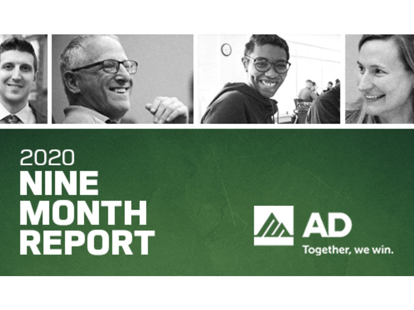 AD Announces 2020 Nine-Month Results 2