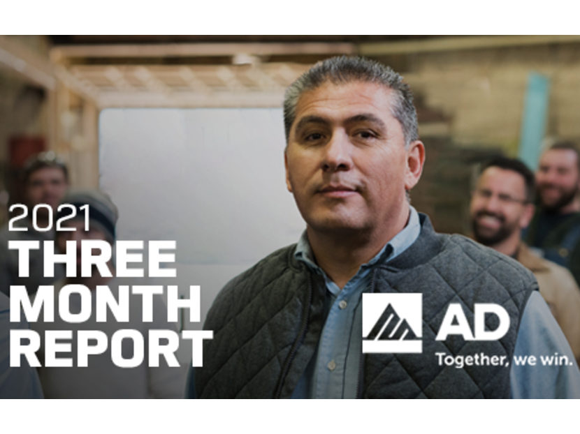 AD Member Sales Up 14 Percent in First Three Months of 2021