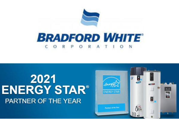 Bradford White Water Heaters Receives 2021 ENERGY STAR Partner of the Year Award