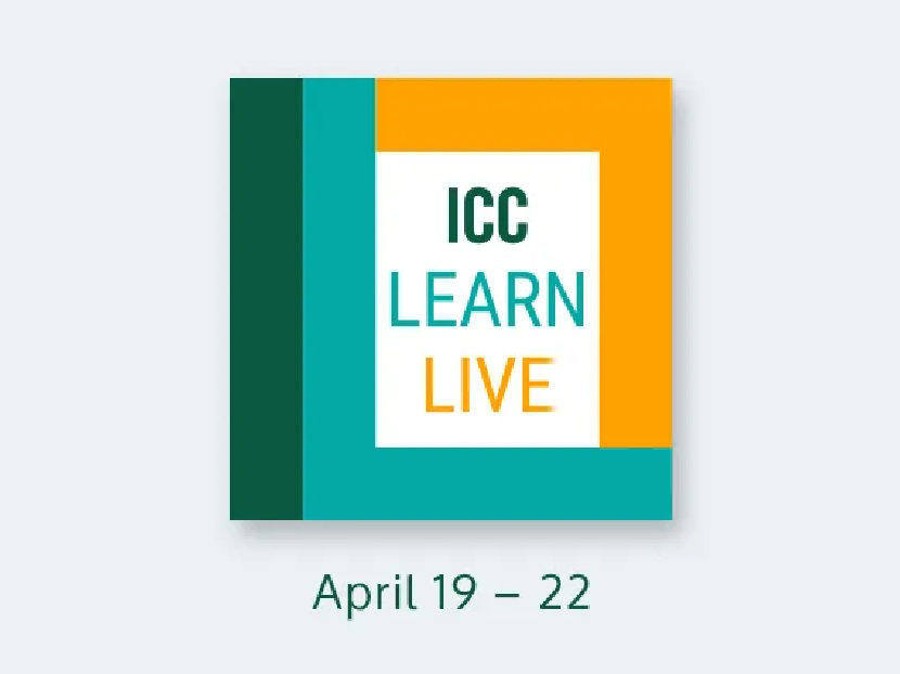 ICC Announces Spring Education Event: ICC Learn Live