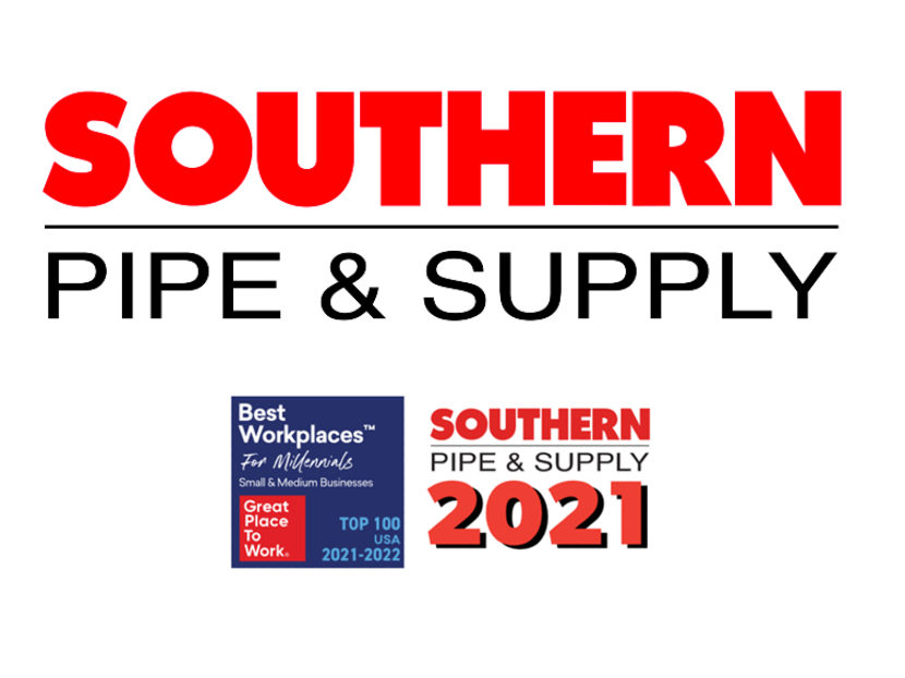 Fortune Magazine Names Southern Pipe & Supply Top 100 Workplace for Millennials