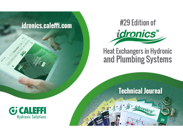 Caleffi Introduces 29th Edition of idronics: Heat Exchangers in Hydronic and Plumbing Systems