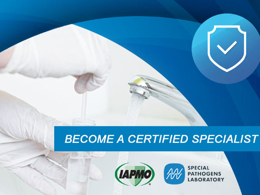 Registration Open for Legionella Water Safety and Management Specialist Certification Training