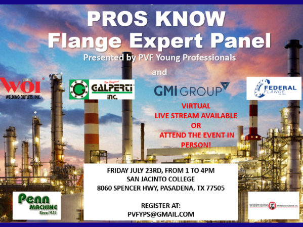 PVF Young Professionals Presents Pros Know: Flange Expert Panel Livestream Seminar