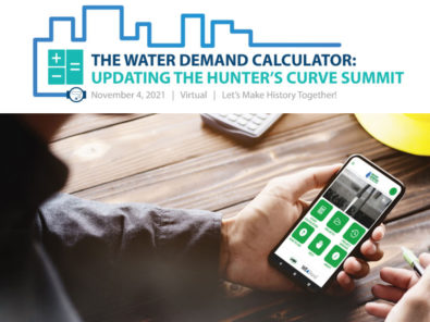 Save the date the water demand calculator  updating the hunters curve summit