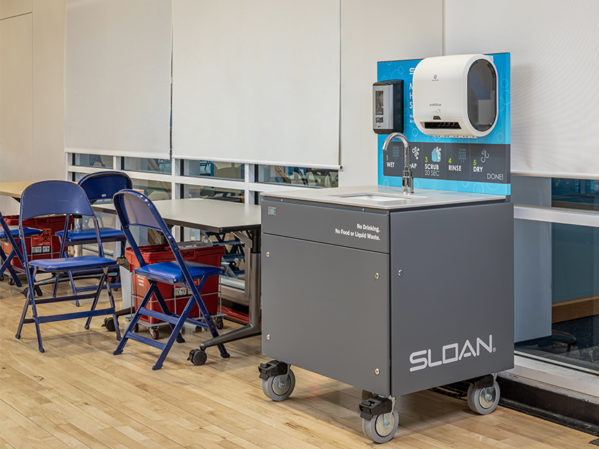 UC San Diego Specifies Sloan Mobile Handwashing Station for Vaccination Site