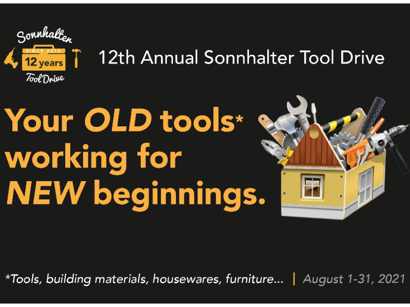 Sonnhalter Partners with Habitat for Humanity for  12th Annual Sonnhalter Tool Drive