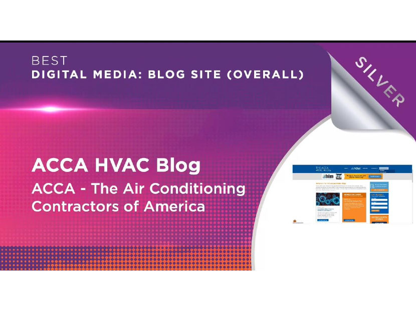 ACCA HVAC Blog Wins Silver Medal at EXCEL Awards Competition
