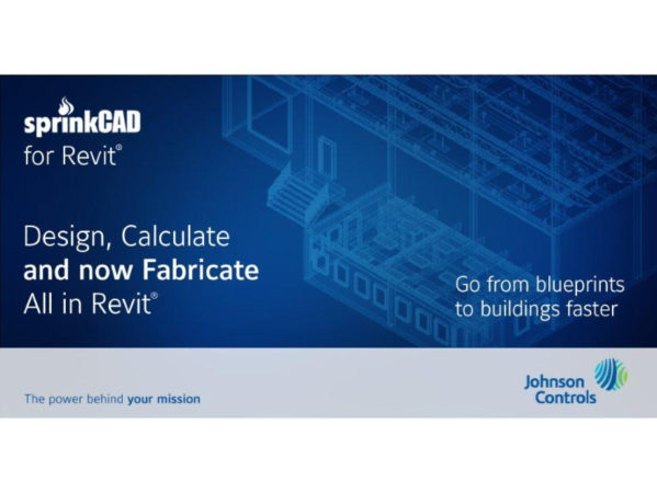 Johnson Controls SprinkCAD for Revit Fabrication Tool