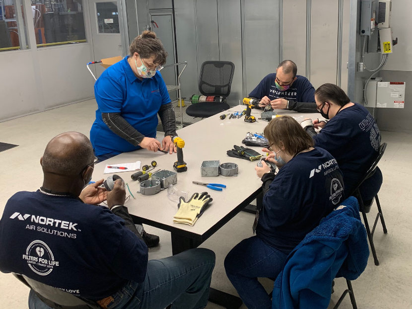 Nortek Partnership with Charity Grows into HVAC Assembly Jobs Program for Disabled Adults