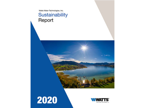 Watts Water Technologies Releases 2020 Sustainability Report 2