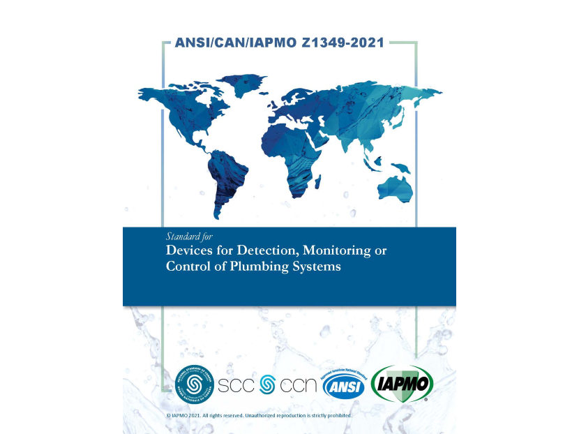 IAPMO Publishes U.S., Canadian Standard for Detection, Monitoring, Control of Plumbing Systems