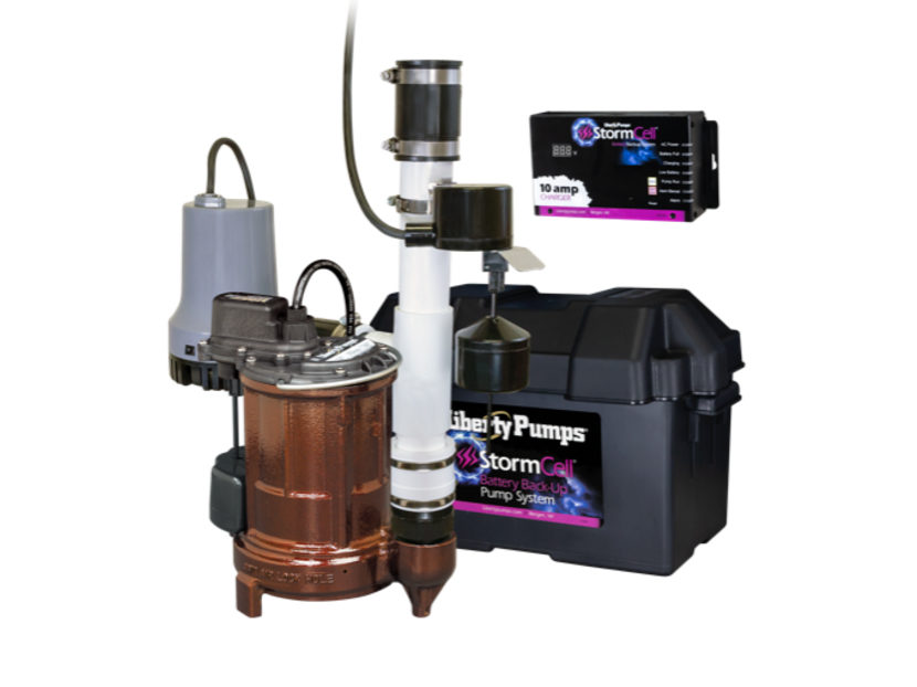 Liberty Pumps PC441-10A Sump Pump Combo System 2