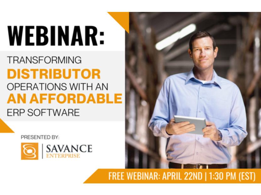 Savance Enterprise ERP Software to Host Live April Webinar 2