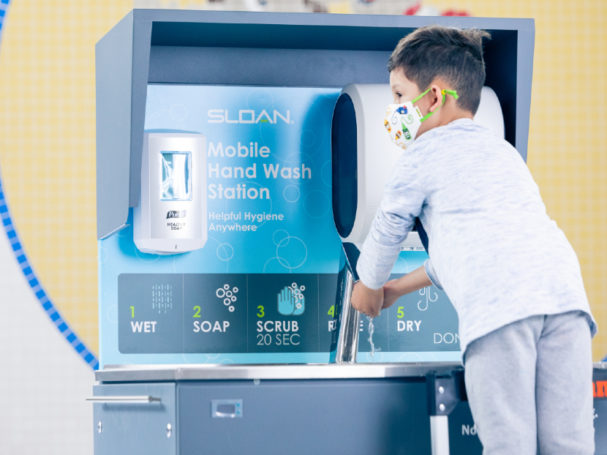 Sloan donates mobile handwashing stations to four chicago area schools