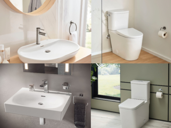 GROHE Essence and Eurocube Ceraminc Toilet and Sink Collections