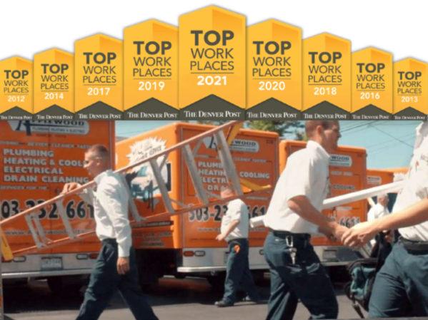 Applewood Plumbing Ranks in Top 20 of Midsized Top Workplaces