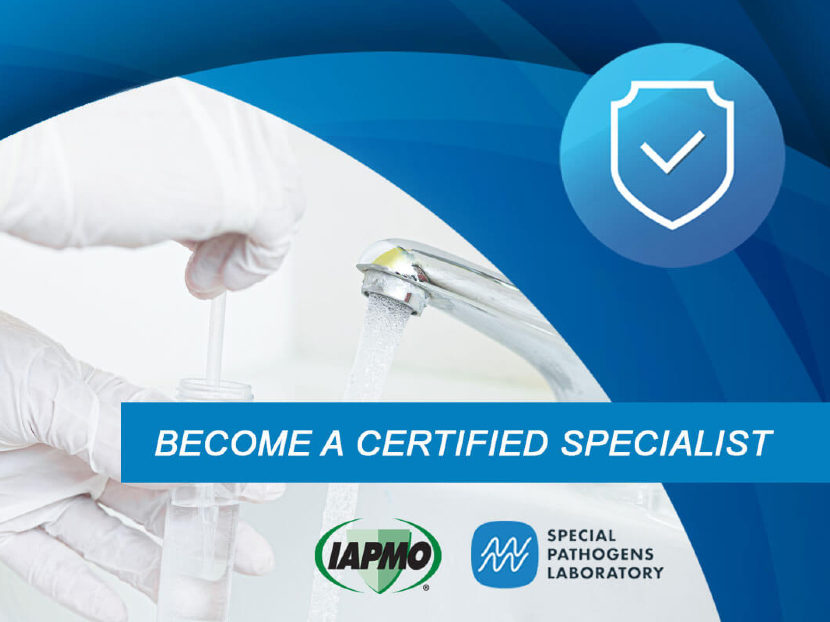 IAPMO and SPL Offer ASSE 12080 Legionella Water Safety and Management Specialist Certification Training