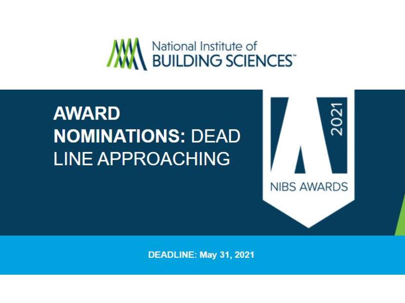 NIBS Award Nominations Close May 31