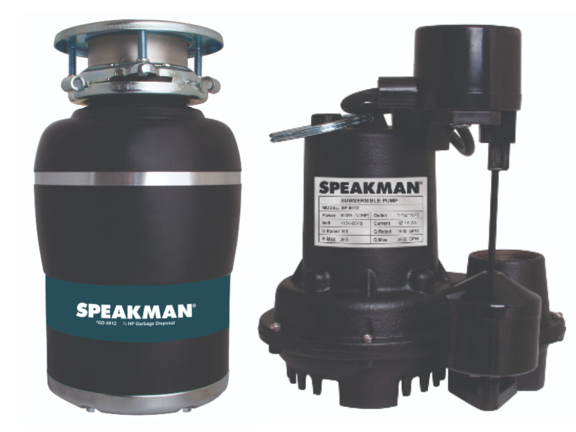 Speakman Now Offers Garbage Disposals and Sump Pumps