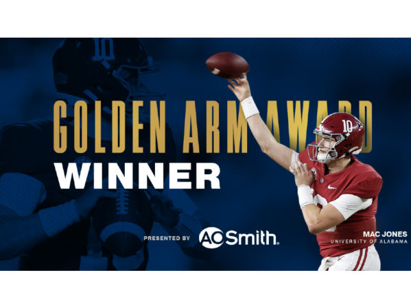 A. O. Smith Announces 2020 Johnny Unitas Golden Arm Award Winner 2