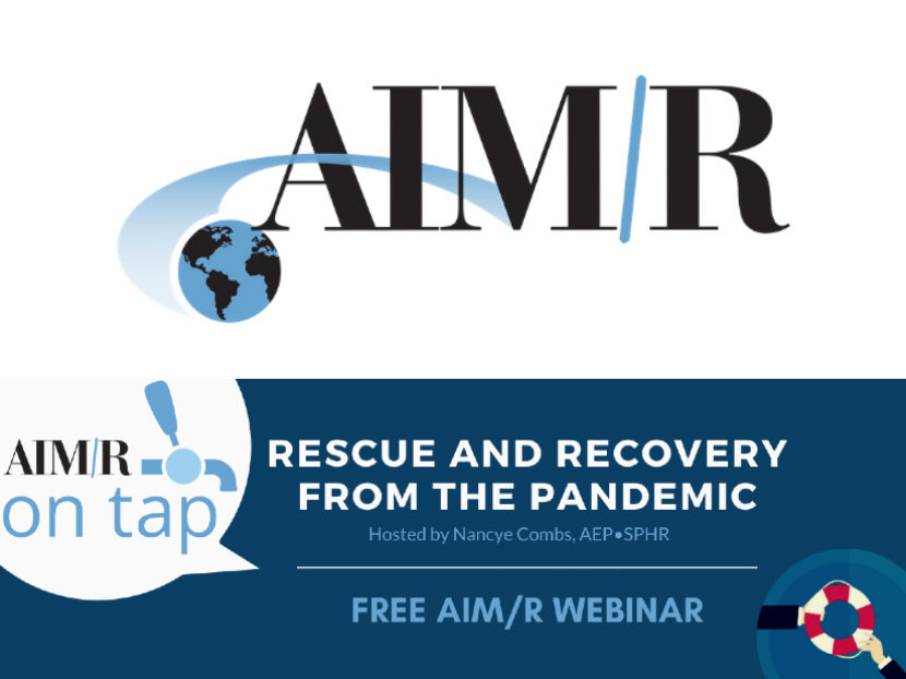 AIM/R Presents Free Webinar Rescue and Recovery from the Pandemic