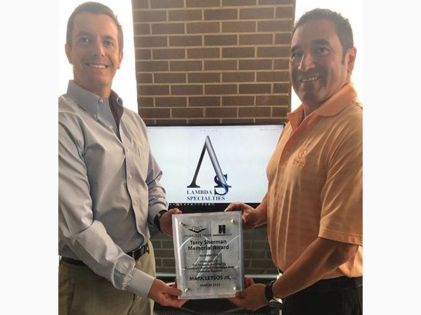 Mark Letsos Wins Terry Sherman Award 2