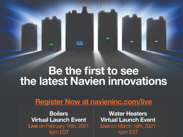 Navien Announces Boiler and Water Heater Virtual Launch Events 2