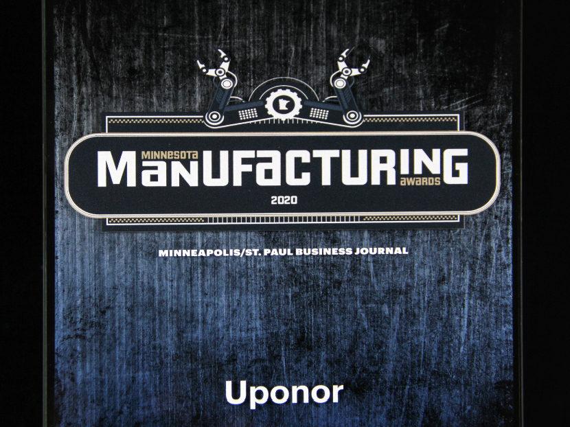 Uponor wins Minnesota Manufacturing Sustainability Award 2