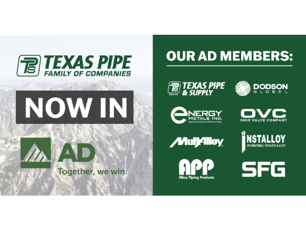 Texas Pipe Family of Companies Joins AD 2