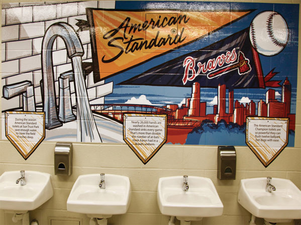 American Standard Launches Branded Restrooms at Braves Stadium