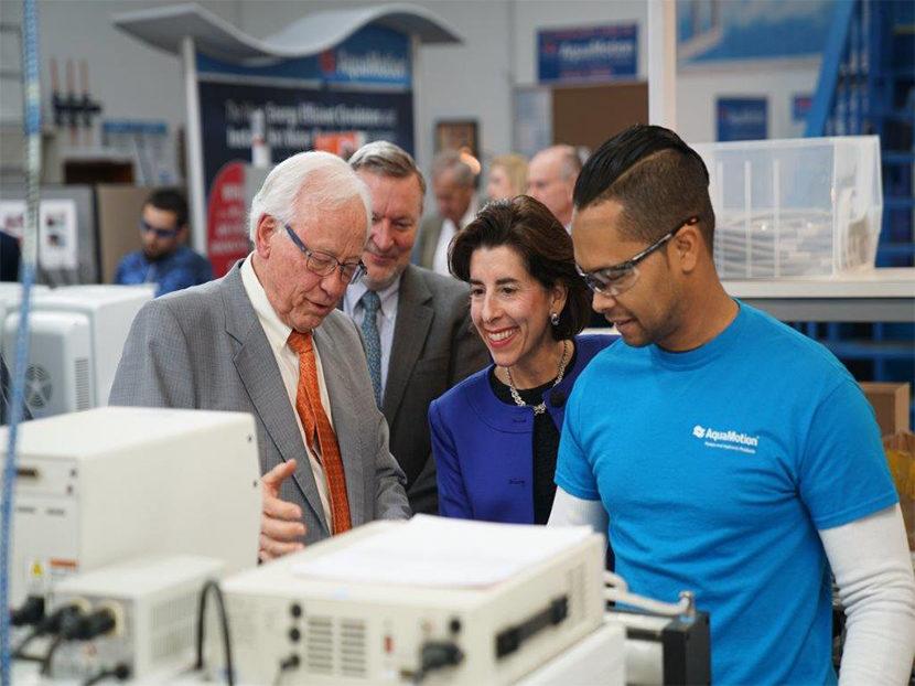 Rhode Island Governor Visits AquaMotion