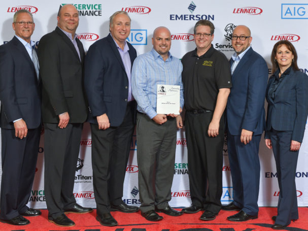 Abacus plumbing air conditioning electrical wins circle of excellence award from lennox 2