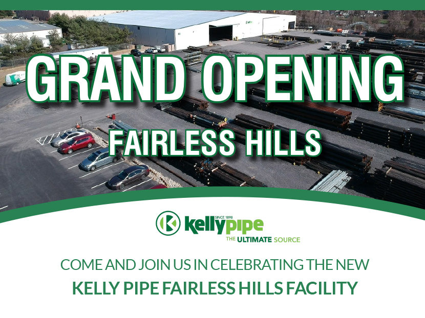Kelly Pipe Announces Grand Opening of Fairless Hills, Pennsylvania, Facility