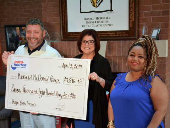 Roto-Rooter Plumbers of Savannah Presents More Than $7,500 to the Ronald McDonald House of the Coastal Empire