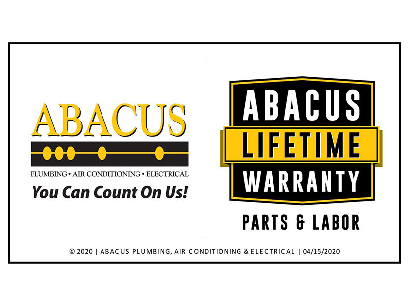 Abacus Plumbing, Air Conditioning & Electrical Unveils Unprecedented Abacus Lifetime Warranty