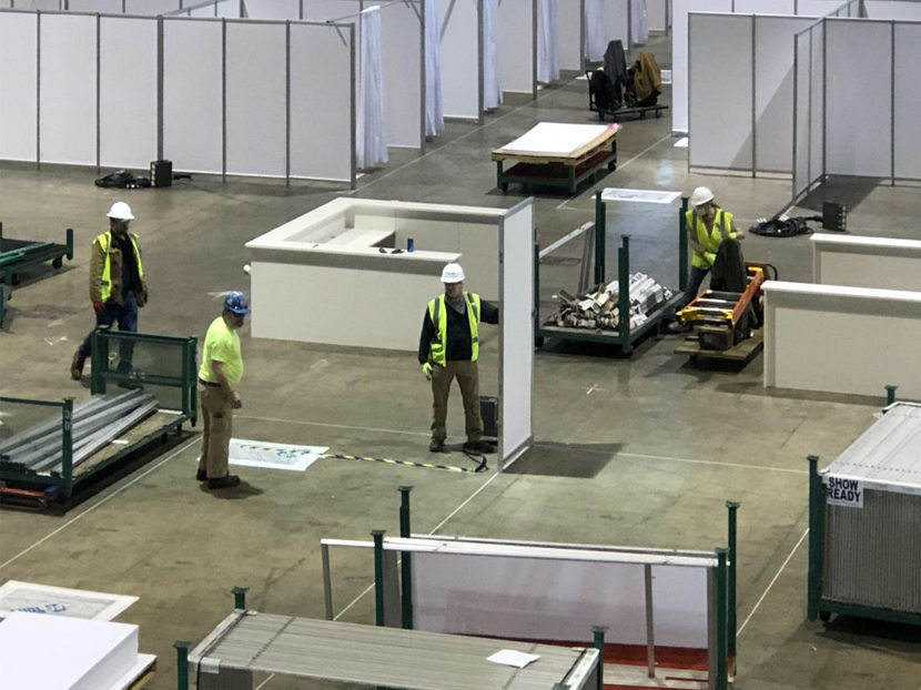 CRCC Helps Build Alternate Care Facility at McCormick Place to Contain Spread of COVID-19