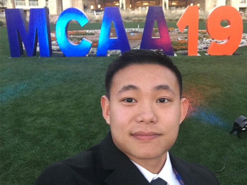 Jonathan Dang Receives Foster McCarl Jr. Memorial Scholarship