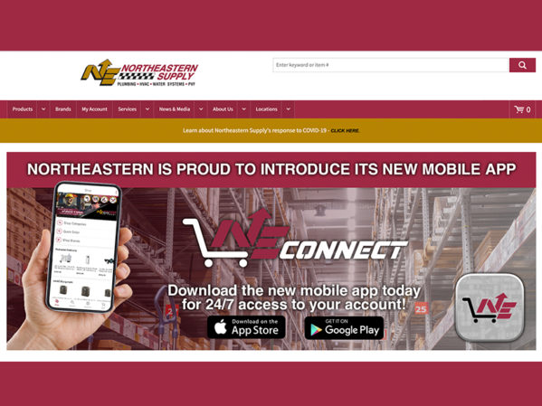 Northeastern Supply Launches New e-Commerce Website