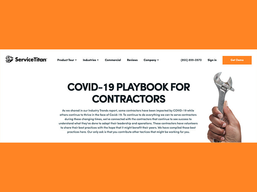 ServiceTitan Compiles Contractor COVID-19 Best Practices Into Online Resource