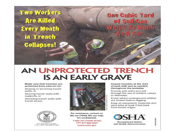 OSHA Fines Contractor $95,064 after Worker Buried in Trench Collapse
